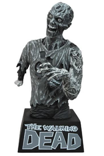 Foto de The Walking Dead Hucha Zombie Black & White 20 cm