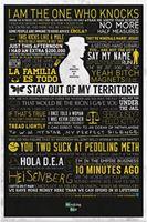 Imagen de Breaking Bad Póster Typographic