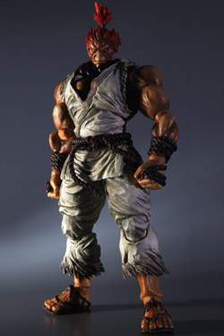 Imagen de Super Street Fighter IV Play Arts Kai Vol. 2 Figura Akuma White Ver. Exclusive