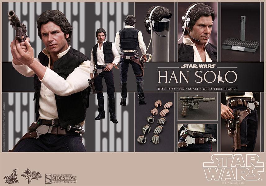Imagen de Star Wars Figura Han Solo 1/6 Hot toys
