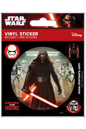 Imagen de Star Wars Episode VII Pegatina Vinilo Flask Pack (5) First Order