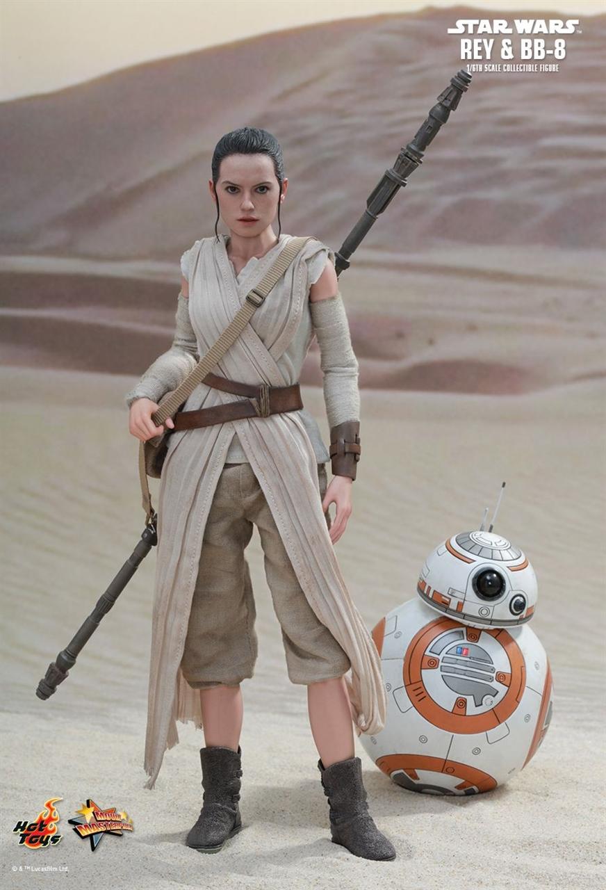 Imagen de Star Wars Episode VII Pack de 2 Figuras Movie Masterpiece 1/6 Rey & BB-8
