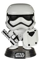 Imagen de Star Wars Episode VII POP! Vinyl Cabezón First Order Stormtrooper with Shield 9 cm