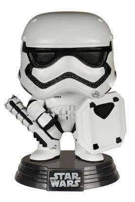 Imagen de Star Wars Episode VII POP! Vinyl Cabezón First Order Stormtrooper with Shield 9 cm