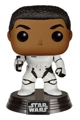 Imagen de Star Wars Episode VII POP! Vinyl Cabezón Stormtrooper Finn With Blaster 9 cm