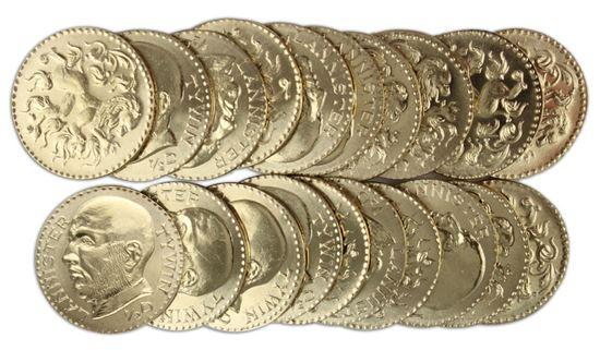 Foto de   Juego de Tronos Set de Monedas Tywin Lannister Golden Half-Dragons