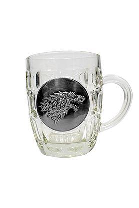 Imagen de Juego de Tronos Jarra de cerveza Stark Metallic Logo