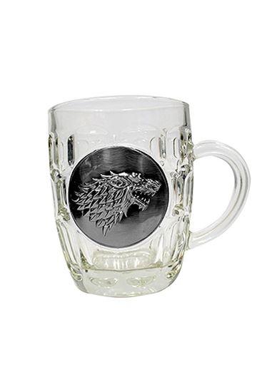 Foto de Juego de Tronos Jarra de cerveza Stark Metallic Logo