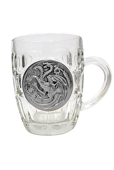 Foto de Juego de Tronos Jarra de cerveza Targaryen Metallic Logo