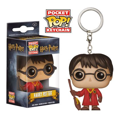 Imagen de Harry Potter Llavero Pocket POP! Vinyl Harry Potter Quidditch 4 cm