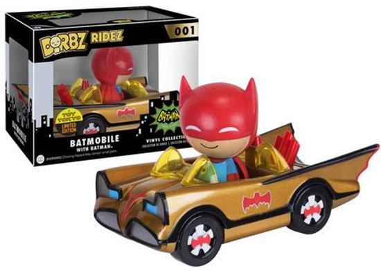 Foto de Batman POP! Ridez Vehículo con Figura Dorbz ?66 Batman Gold Batmobile SDCC 2016 Exclusive 12 cm