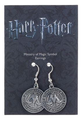 Imagen de Harry Potter Pendientes Ministry of Magic (plateado)