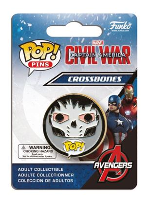 Imagen de Captain America Civil War POP! Pins Chapa Crossbones