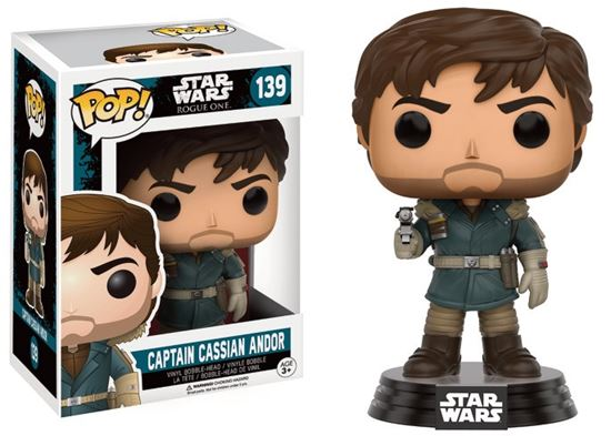 Foto de Star Wars Rogue One POP! Vinyl Cabezón Captain Cassian Andor 9 cm