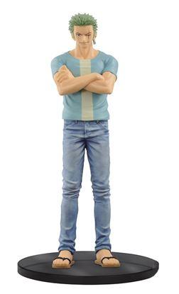 Imagen de One Piece Figura Jeans Freak Roronoa Zoro 17 cm