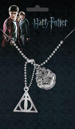 Imagen de Harry Potter Chapas de Identificación con cadena Crest & Hallows