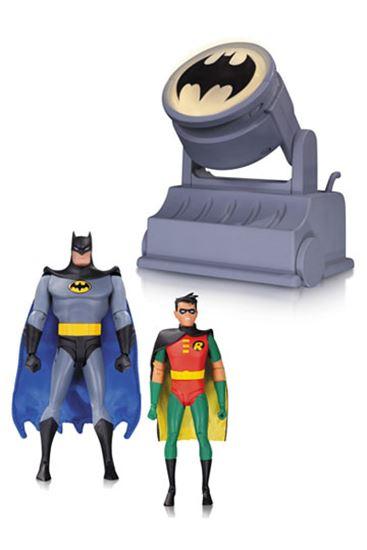 Foto de Batman The Animated Series: Batman y Robin con Batseñal