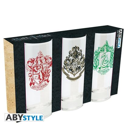 Imagen de Harry Potter- Set de tres vasos de cristal
