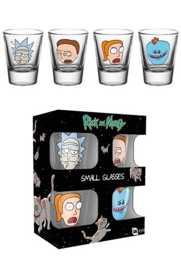 Foto de Rick y Morty Pack de 4 Vasos de Chupitos Faces