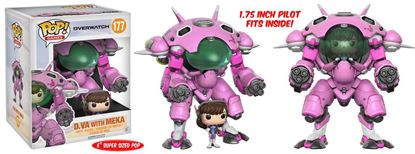 Imagen de Overwatch Super Sized POP! Games Vinyl Figura D.VA & Meka 15 cm