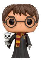 Imagen de Harry Potter POP! Movies Vinyl Figura Harry with Hedwig 9 cm