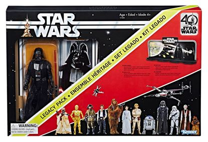 Imagen de Star Wars 40th Anniversary Black Series Figuras 15 cm Darth Vader Legacy Pack