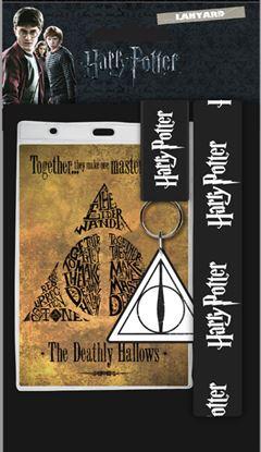 Imagen de Harry Potter Llavero Con Cinta & Llavero Caucho Deathly Hallows