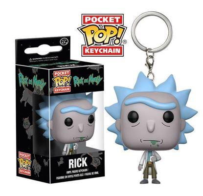 Imagen de Rick y Morty Llavero Pocket POP! Vinyl Rick 4 cm