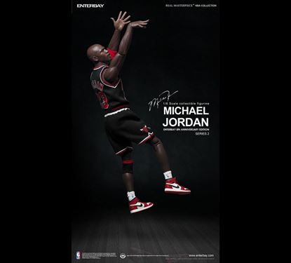 Imagen de NBA Collection Figura Real Masterpiece 1/6 Michael Jordan (Black  Edition)