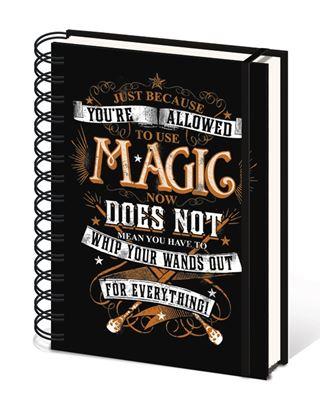 Imagen de Harry Potter CUADERNO A5 MAGIC