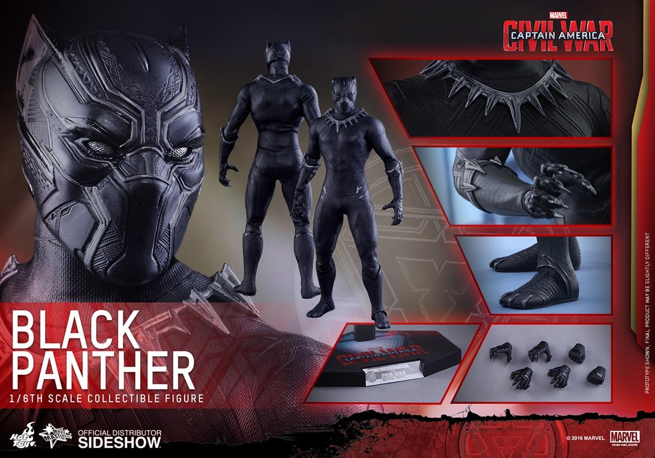 Imagen de Captain America: Civil War - Movie Masterpiece Series 1/6 Black Panther 31 cm