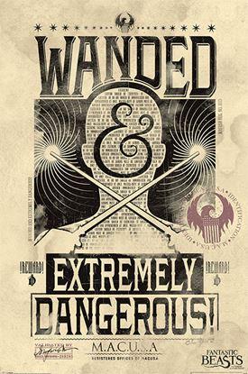 Imagen de Animales Fantásticos Poster Extremely Dangerous