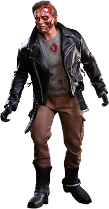 Imagen de Terminator Figura Movie Masterpiece 1/6 T-800 Battle Damaged