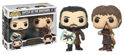 Imagen de Juego de Tronos Pack de 2 POP! Vinyl Figuras Battle of the Bastards 9 cm