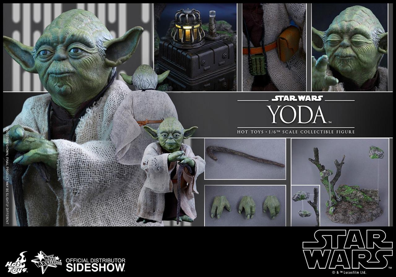 Imagen de Star Wars Episode V Figura Movie Masterpiece 1/6 Yoda 13 cm