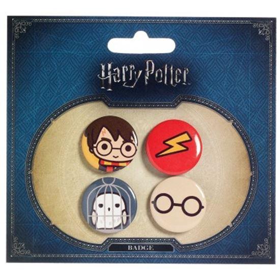 Foto de Harry Potter Set de Chapas Chibis