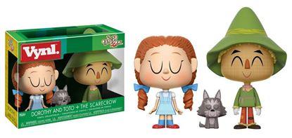 Imagen de El Mago de Oz Pack de 2 VYNL Vinyl Figuras Dorothy with Toto & Scarecrow 10 cm