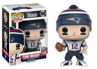 Imagen de NFL POP! Football Vinyl Figura Tom Brady (New England Patriots) 9 cm