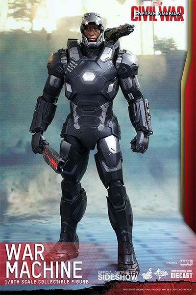 Imagen de Captain America Civil War Figura Movie Masterpiece Diecast 1/6 War Machine Mark III 32 cm