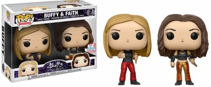Imagen de Buffy Pack de 2 POP! TV Vinyl Figuras Buffy & Faith 2017 Fall Convention Exclusive 9 cm