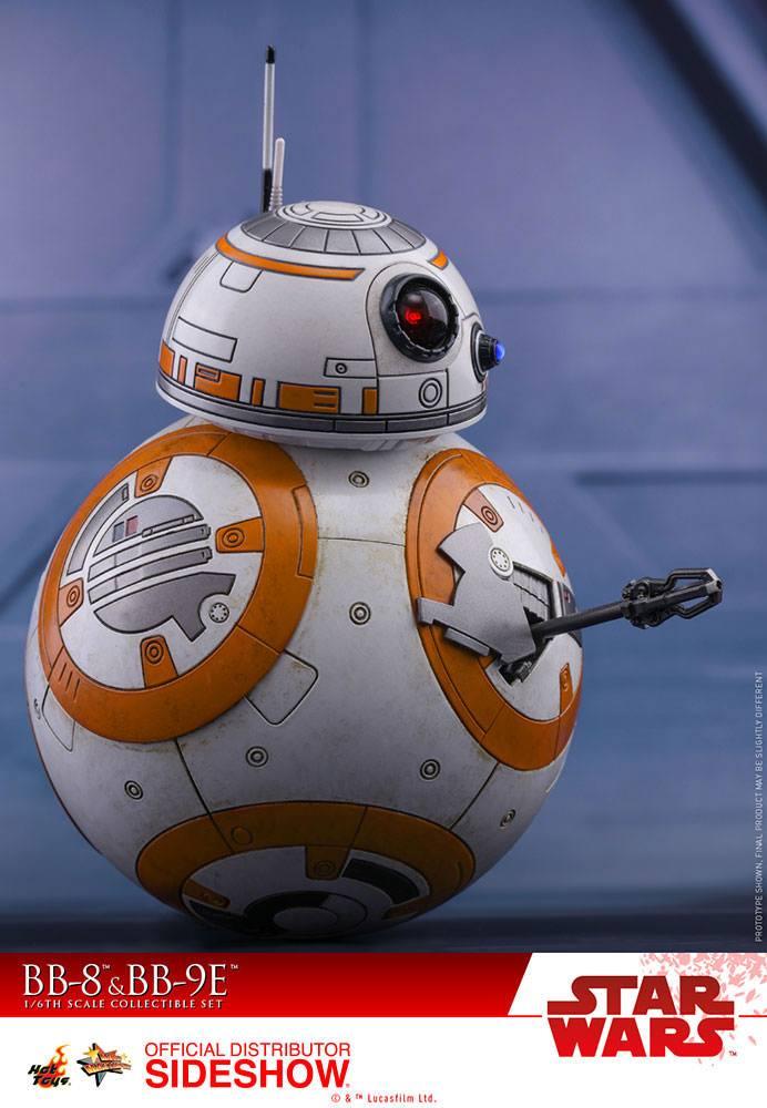 Imagen de Star Wars Episode VIII Pack de 2 Figuras Movie Masterpiece 1/6 BB-8 & BB-9E 11 cm