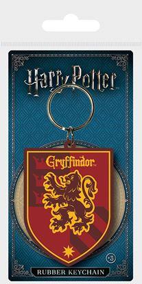 Imagen de Harry Potter Llavero Caucho Escudo Gryffindor