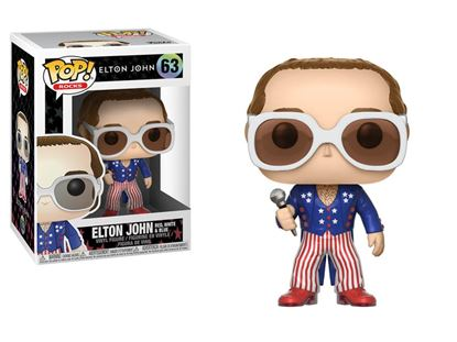 Imagen de Elton John POP! Rocks Vinyl Figura Elton John Red, White & Blue 9 cm