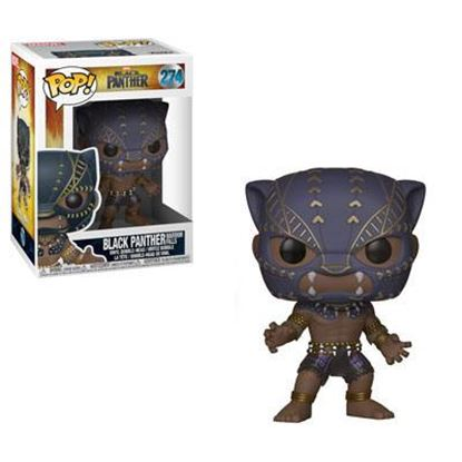 Imagen de Black Panther Movie POP! Movies Vinyl Figura Black Panther Warriors Fall 9 cm