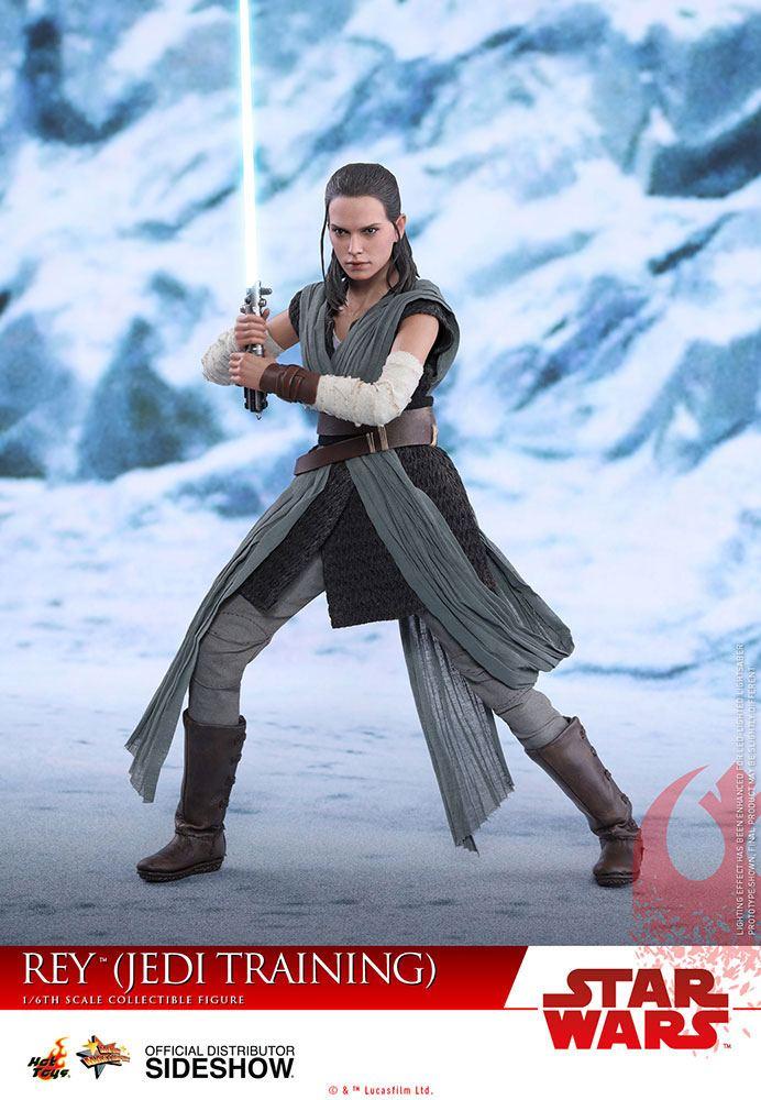 Imagen de Star Wars Episode VIII Figura Movie Masterpiece 1/6 Rey Jedi Training 28 cm