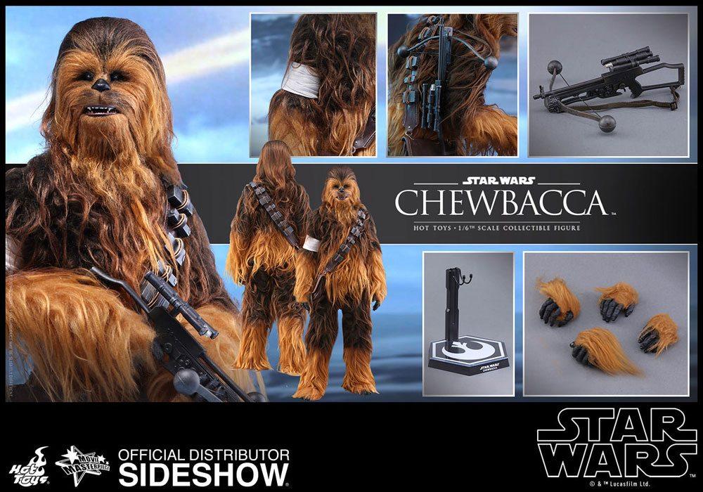Imagen de Star Wars Episode VII Figura Movie Masterpiece 1/6 Chewbacca 36 cm