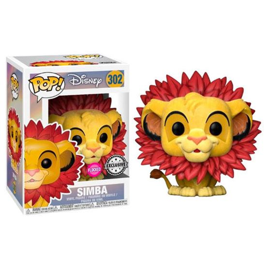 Foto de FIGURA POP DISNEY REY LEON: SIMBA FLOCKED