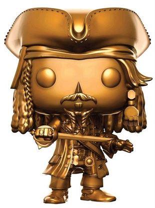 Imagen de Piratas del Caribe La Venganza de Salazar POP! Movies Vinyl Figura Jack Sparrow Gold Ver. 9 cm