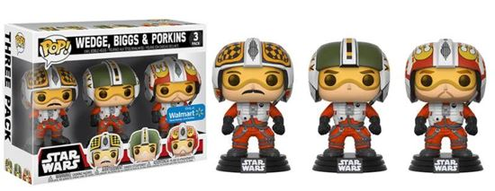 Foto de Star Wars Pack de 3 Figuras POP! Vinyl Wedge, Biggs & Porkins 9 cm