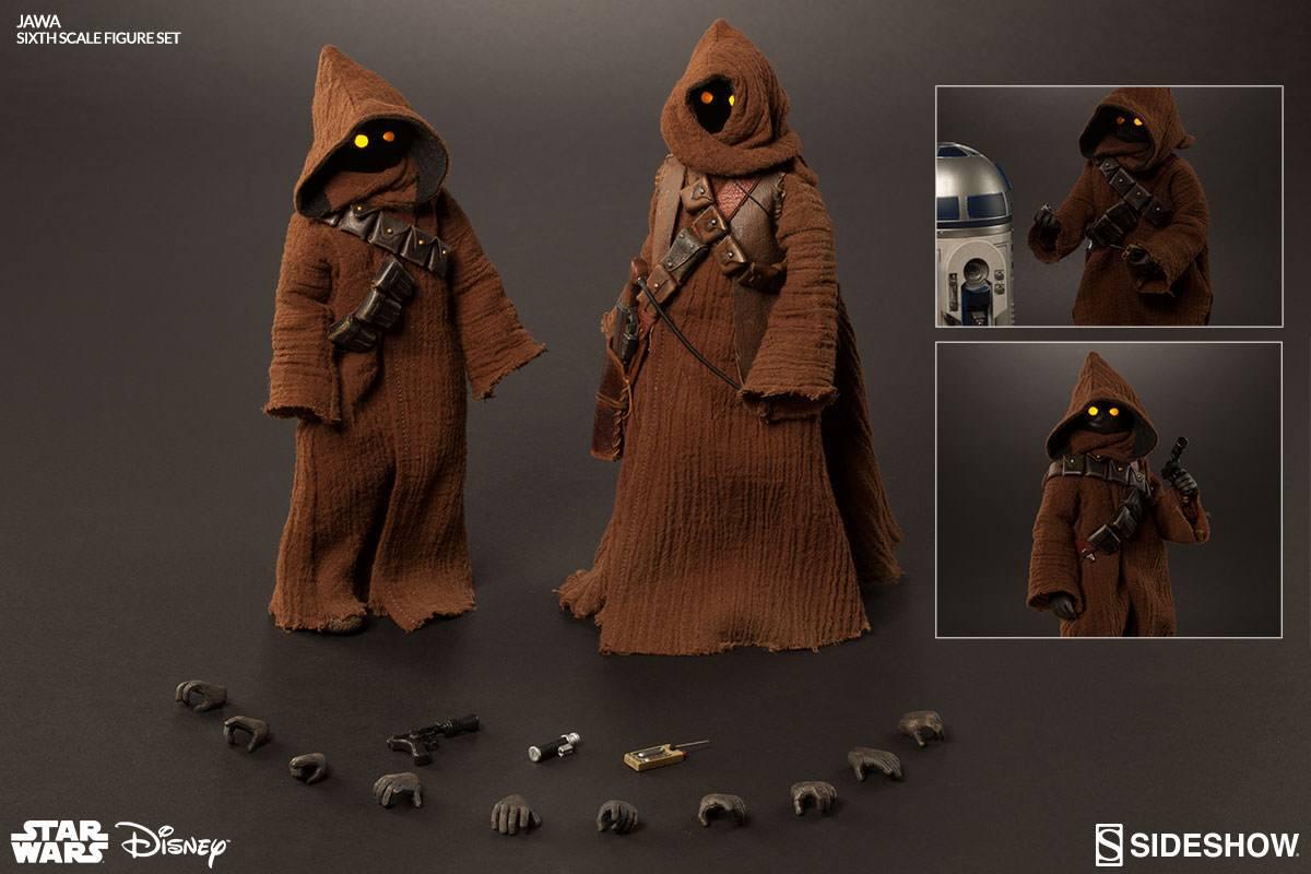 Imagen de Star Wars Set de 2 Figuras 1/6 Jawa 23 cm